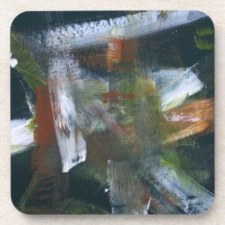 Abstract Painting 50 November Rain Beverage Coasters