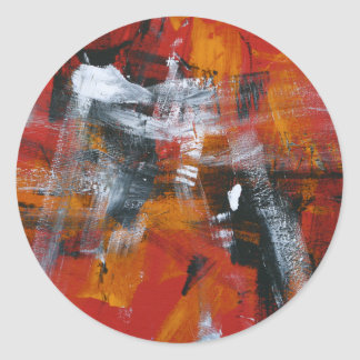 Abstract Painting 57 Shaken Up Classic Round Sticker