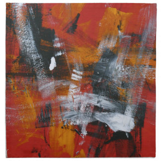 Abstract Painting 57 Shaken Up Cloth Napkin