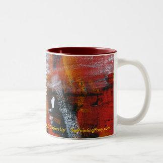 Abstract Painting 57 Shaken Up Two-Tone Coffee Mug