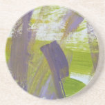 Abstract Painting 58 Iris Beverage Coaster