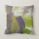Abstract Painting 58 Iris Throw Pillow
