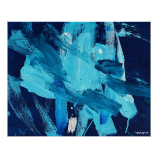 Abstract Painting 68 Ocean Tide Poster