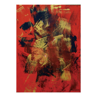 Abstract Painting 6 The Orient Poster
