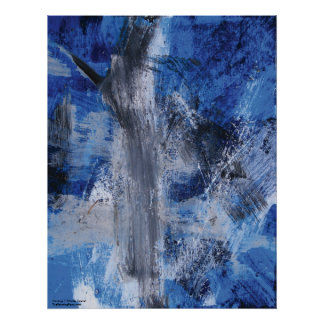 Abstract Painting 7 Winter Scene Poster