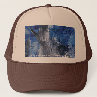 Abstract Painting 7 Winter Scene Trucker Hat