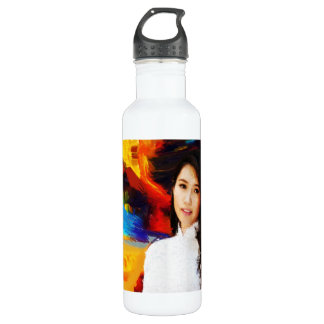 Abstract Painting | Abstract Art Stainless Steel Water Bottle