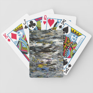 Abstract Painting Bicycle Playing Cards