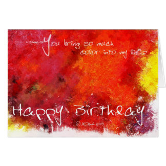 Abstract Painting Birthday Card