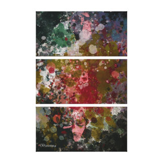 """Abstract Painting """"Blàths Cherry"""" #2 Canvas Print"""
