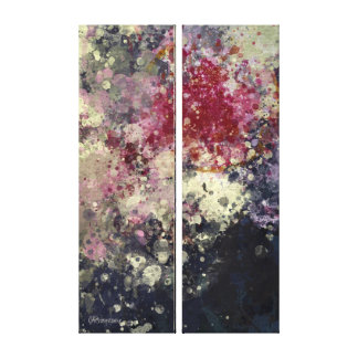"""Abstract Painting """"Blàths Cherry"""" Canvas Print"""