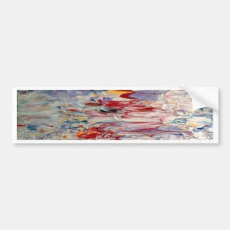 Abstract Painting Car Bumper Sticker