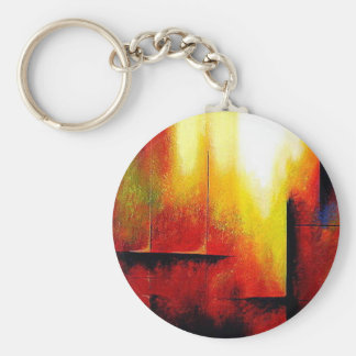 Abstract Painting by Hizli Keychain