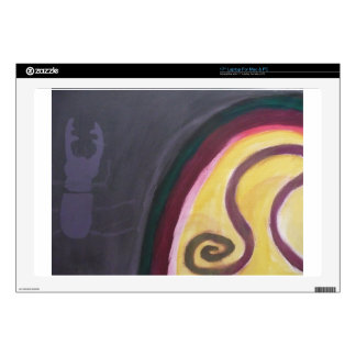 """Abstract painting by s b Eazle 17"""" Laptop Skin"""