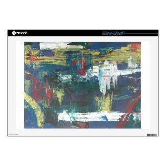 """Abstract painting by s b Eazle Decals For 17"""" Laptops"""