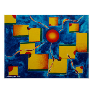 Abstract Painting by Viktor Tilson Poster