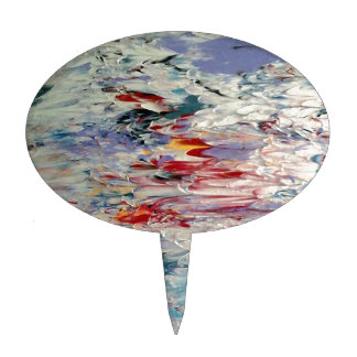 Abstract Painting Cake Topper