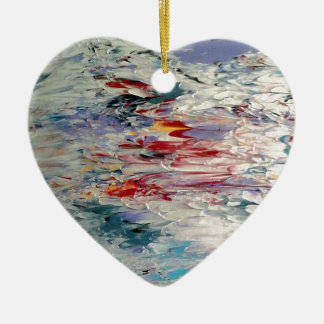 Abstract Painting Ceramic Ornament