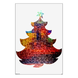 Abstract painting - Christmas tree Room Decal