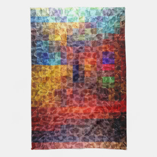 Abstract painting City Lights Hand Towel