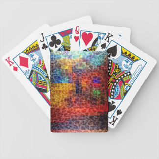 Abstract painting City Lights Bicycle Card Deck