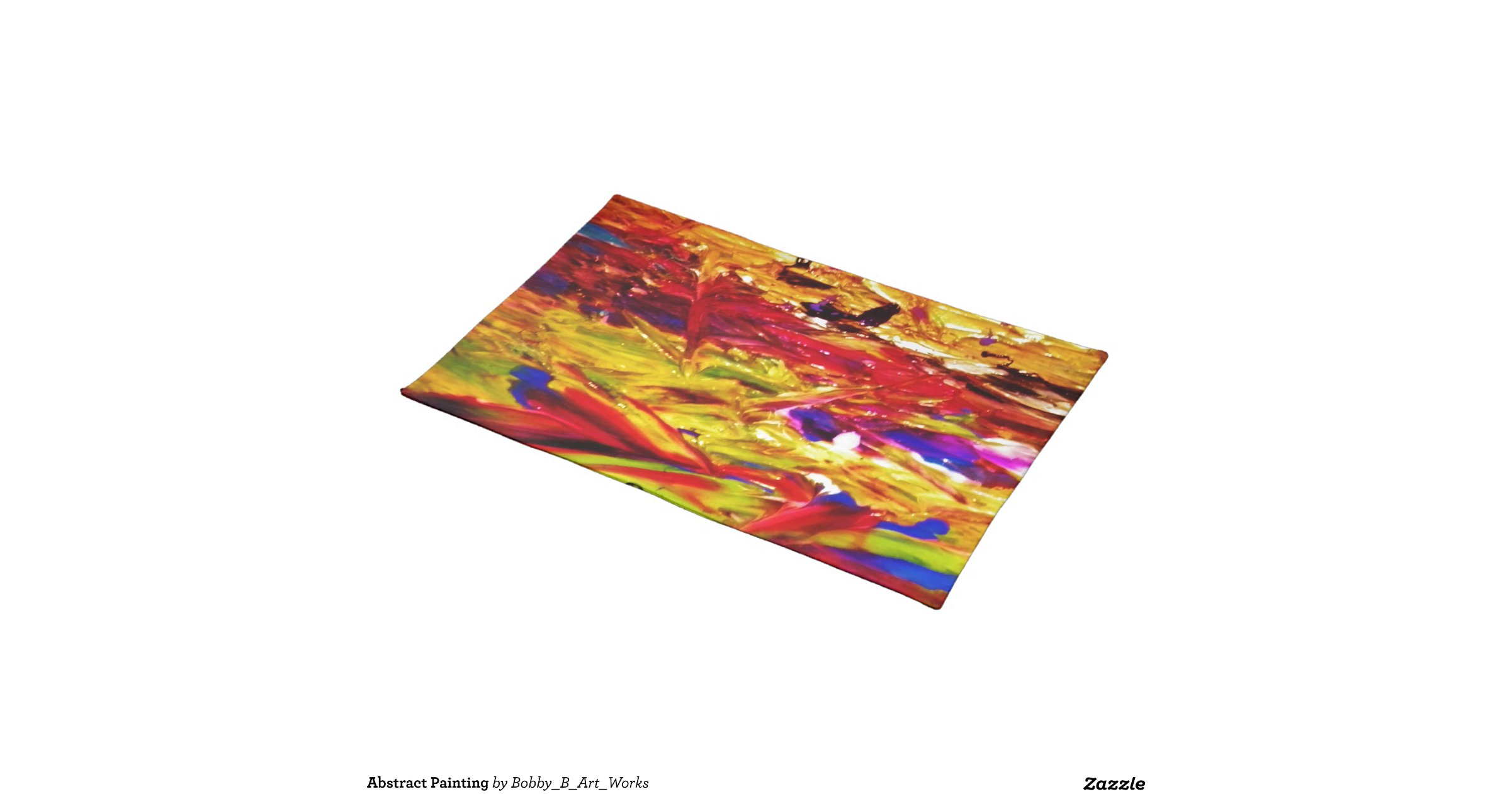 Abstract Painting Cloth Place Mat Zazzle