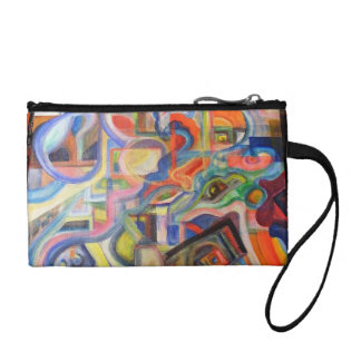 abstract painting coin purse
