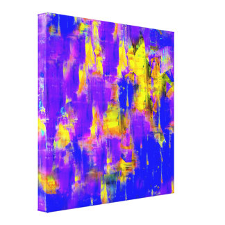 Abstract Painting Color of Winter 2 Canvas Print