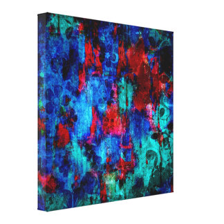 Abstract Painting Color of Winter Canvas Print