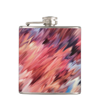 Abstract painting color texture flask