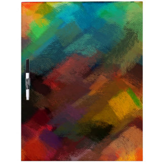 Abstract Painting | Colorful Abstract Art 3 Dry Erase Board