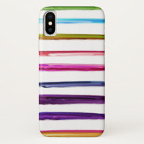 Abstract Painting | Colorful Paint Brush Strokes iPhone X Case