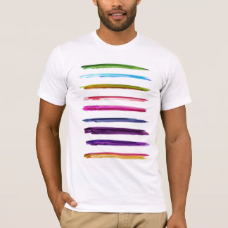 Abstract Painting | Colorful Paint Brush Strokes T-Shirt