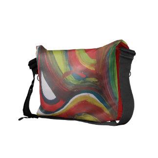 Abstract painting colorful Rickshaw Messenger Bag
