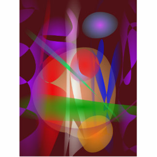 Abstract Painting Dark Brown Photo Cut Outs