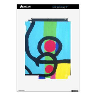 Abstract painting decal for the iPad 2