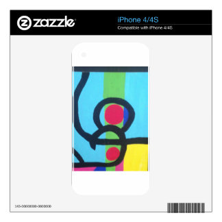 Abstract painting decals for the iPhone 4
