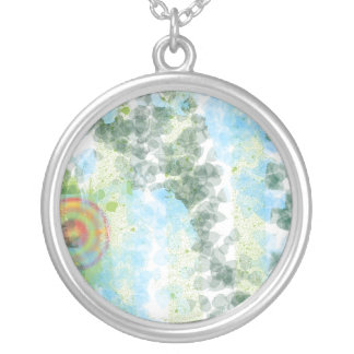 abstract painting digitally manipulated pendant
