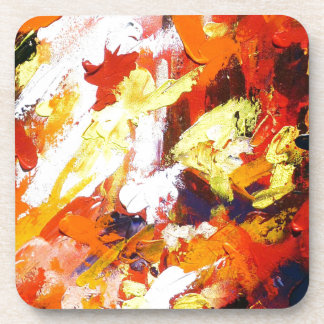 ABSTRACT PAINTING DRINK COASTER