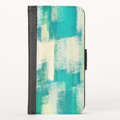 Abstract Painting | Dynamic Colors Case-Mate iPhon iPhone X Wallet Case