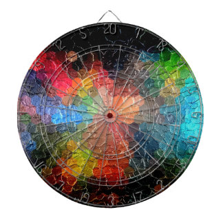 Abstract Painting | Dynamic Colors Dartboard