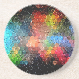 Abstract Painting | Dynamic Colors Sandstone Coaster