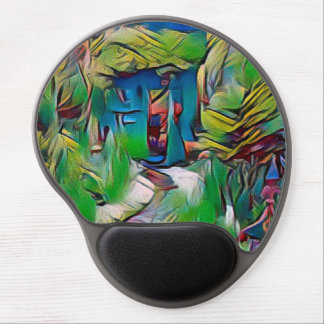 Abstract painting, early autumn,digital art, moder gel mouse pad
