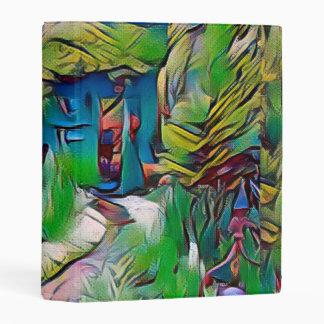 Abstract painting, early autumn,digital art, moder mini binder