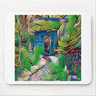 Abstract painting, early autumn,digital art, moder mouse pad