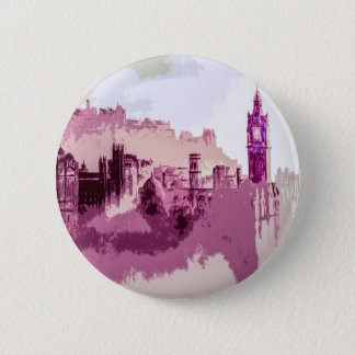 Abstract Painting Edinburgh Capital of Scotland Button