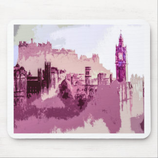 Abstract Painting Edinburgh Capital of Scotland Mouse Pad
