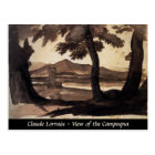 abstract painting fine art ink Roman Campagna Postcard