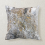 "Abstract Painting Gray Black Gold White Artwork Throw Pillow<br><div class=""desc"">This is an original abstract painting by Heather Miller of WhiteRosesArt.com.  The full size piece measured 16"" x 20"".  The original,  titled ""Canyon Falls"" may be for sale,  please check my site (link in profile) for further details or send me a message through Zazzle!</div>"
