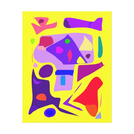 Abstract Painting Happiness Good Luck Joy 134 Canvas Print